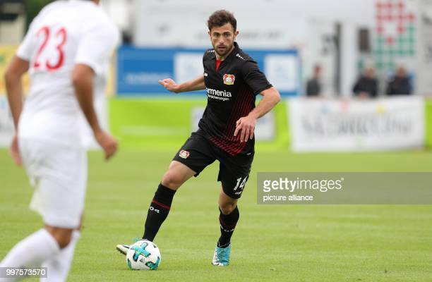 Leverkusen's Admir Mehmedi plays the ball during the friendly match between Bayer Leverkusen and Antalyaspor in Zell am See Austria 27 July 2017...