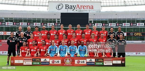 Leverkusen´s German first division Bundesliga team Bayer Leverkusen Physiotherapist Marcel Kleinitz physiotherapist Sven Elsinger HeungMin Son Oemer...