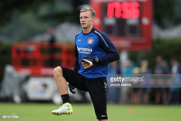 Leverkusen's goalkeeper Bernd Leno before the friendly match between Bayer Leverkusen and Antalyaspor in Zell am See Austria 27 July 2017 Photo Tim...