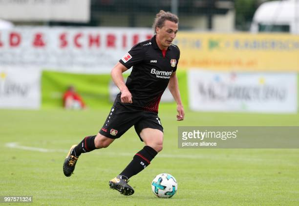 Leverkusen's Julian Baumgartlinger in action during the soccer friendly between Bayer Leverkusen and Antalyaspor in Zell am See Austria 27 July 2017...