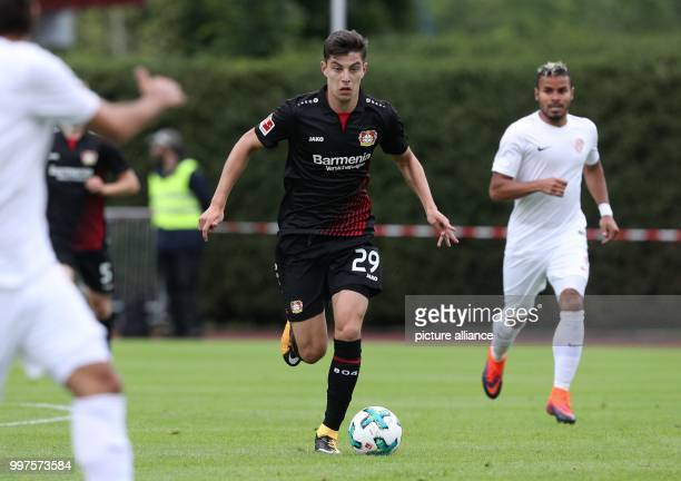 Leverkusen's Kai Havertz plays the ball during the friendly match between Bayer Leverkusen and Antalyaspor in Zell am See Austria 27 July 2017 Photo...