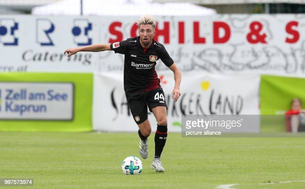Leverkusen's Kevin Kampl plays the ball during the friendly match between Bayer Leverkusen and Antalyaspor in Zell am See Austria 27 July 2017 Photo...