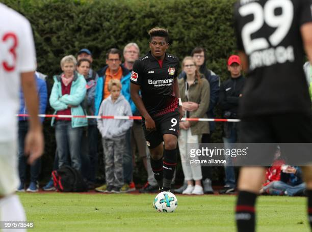Leverkusen's Leon Bailey during the friendly match between Bayer Leverkusen and Antalyaspor in Zell am See Austria 27 July 2017 Photo Tim Rehbein/dpa