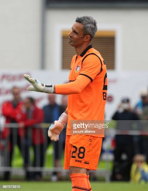 Leverkusen's Ramazan Ozcan gestures during the friendly match between Bayer Leverkusen and Antalyaspor in Zell am See Austria 27 July 2017 Photo Tim...