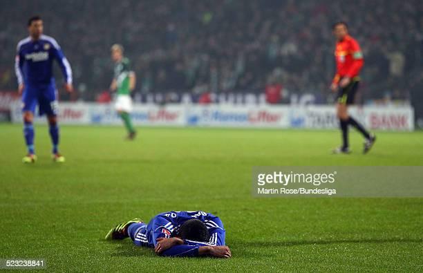 Leverkusen's Renato Augusto ist enttaeuscht waehrend des Bundesligaspiels zwischen SV Werder Bremen Bayer Leverkusen im Weser Stadion am 27Februar...