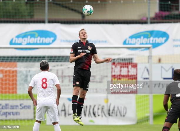 Leverkusen's Sven Bender plays the ball during the friendly match between Bayer Leverkusen and Antalyaspor in Zell am See Austria 27 July 2017 Photo...