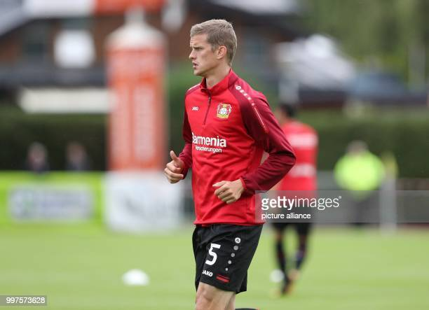 Leverkusen's Sven Bender warms up before the friendly match between Bayer Leverkusen and Antalyaspor in Zell am See Austria 27 July 2017 Photo Tim...
