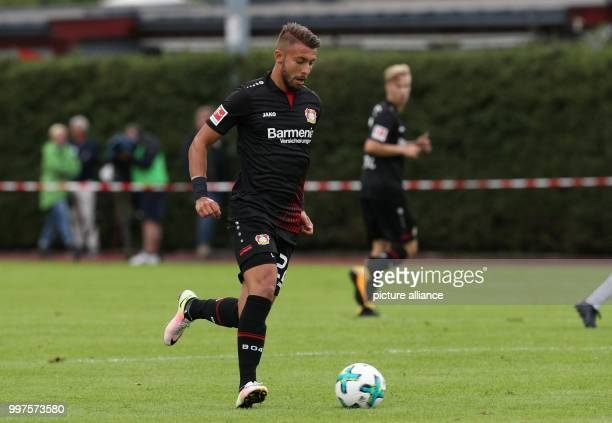 Leverkusen's Wladlen Jurtschenko plays the ball during the friendly match between Bayer Leverkusen and Antalyaspor in Zell am See Austria 27 July...