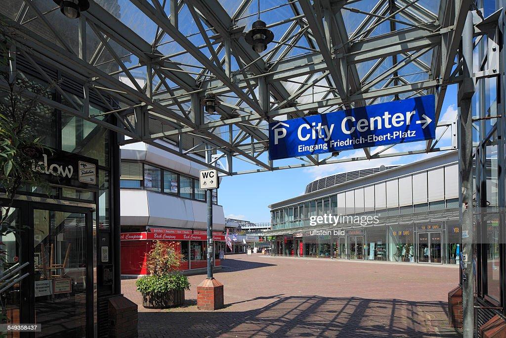 Shopping arcade City Center in Leverkusen : News Photo