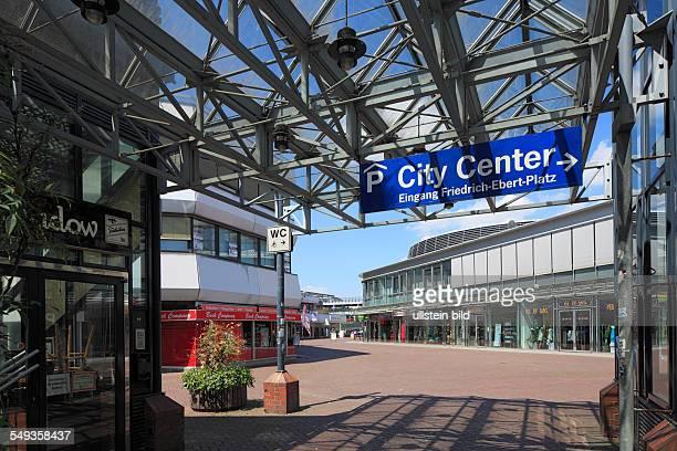 Leverkusen-Wiesdorf, City Center, shopping arcade, entrance