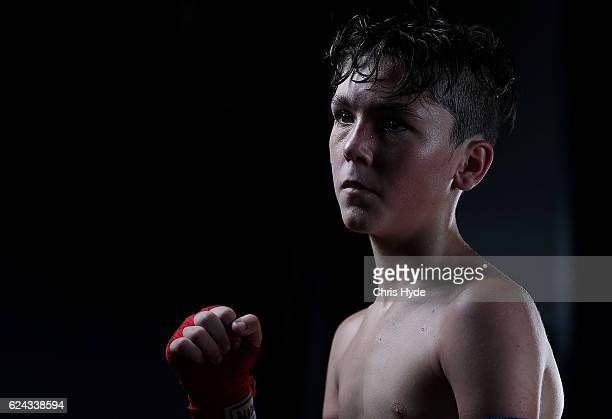 NOVEMBER 19 Levi Arnessen poses for a portrait after his Muay Thai fight in the Siam Junior show at Eagle sports complex on November 19 2016 in...
