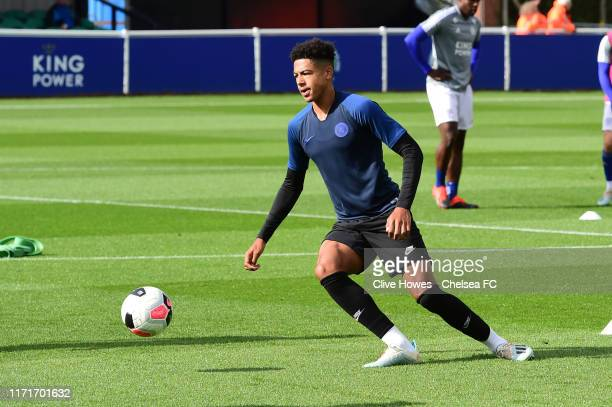 Levi Colwill of Chelsea during the Premier League 2 match between Leicester City and Chelsea at Holmes Park on September 28 2019 in Leicester England