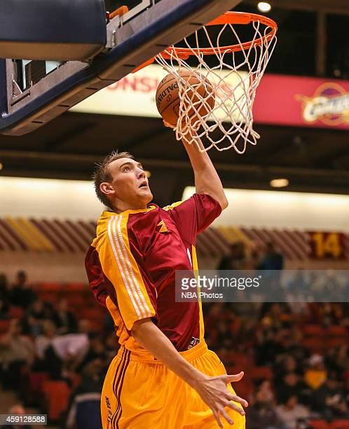 Levi Giese of the Canton Charge warms up before the 201415 Canton Charge Home Opener on November 15 2014 at the Canton Memorial Civic Center in...