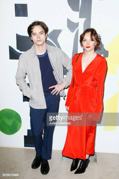 Levi Heaton and Charlie Heaton attend the HM show as part of the Paris Fashion Week Womenswear Fall/Winter 2018/2019 on February 28 2018 in Paris...