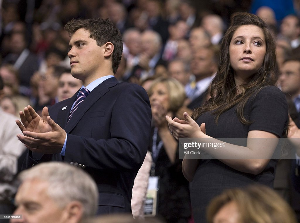 Levi Johnston stands with his girlfriend Bristol Palin, daughter of vice presidential candidate Gov. Sarah Palin, R-Alaska, at the Republican National Convention at the Xcel Center in St. Paul, Minn., on Wednesday, Sept. 3, 2008.
