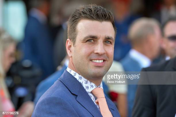 Levi Kavanagh after Kentucky Breeze won the Emirates Airline Handicap at Flemington Racecourse on November 11 2017 in Flemington Australia