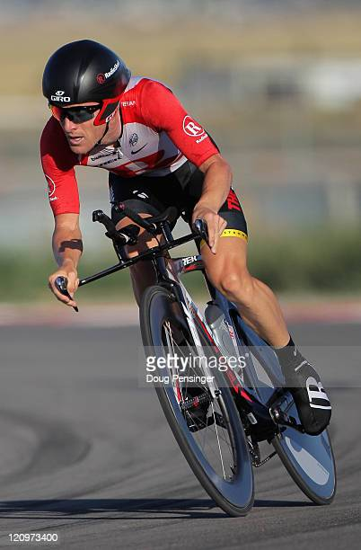 Levi Leipheimer of the USA and riding for Team Radioshack races to second place in the Individual Time Trial during Stage Three of the Tour of Utah...