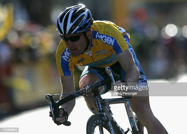 Levi Leipheimer of USA riding for Discovery Channel Pro Cycling Team competes in Stage 1 of the AMGEN Tour of California on February 19, 2007 in...