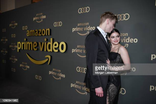 Levi Meaden and Ariel Winter arrive at Amazon Prime Video's Golden Globe Awards After Party at The Beverly Hilton Hotel on January 06 2019 in Beverly...