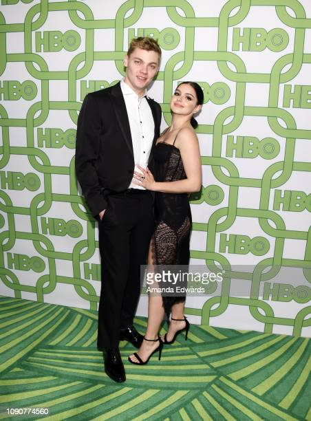 Levi Meaden and Ariel Winter arrive at HBO's Official Golden Globe Awards After Party at Circa 55 Restaurant on January 06 2019 in Los Angeles...