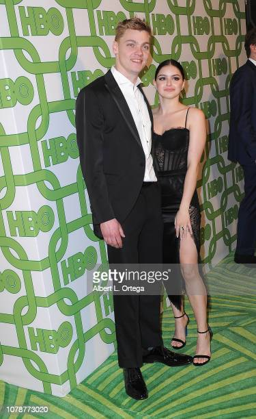 Levi Meaden and Ariel Winter arrive for the HBO's Official Golden Globe Awards After Party held at Circa 55 Restaurant on January 6 2019 in Los...
