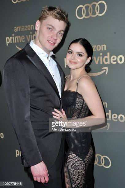 Levi Meaden and Ariel Winter attend Amazon Prime Video's Golden Glove Awards after party at The Beverly Hilton Hotel on January 06 2019 in Beverly...