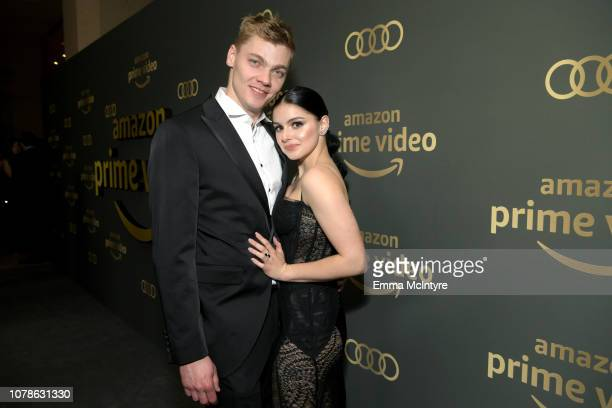 Levi Meaden and Ariel Winter attend the Amazon Prime Video's Golden Globe Awards After Party at The Beverly Hilton Hotel on January 6 2019 in Beverly...