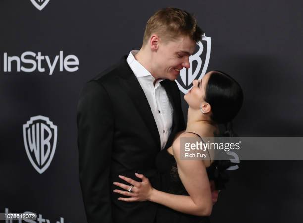 Levi Meaden and Ariel Winter attend the InStyle And Warner Bros Golden Globes After Party 2019 at The Beverly Hilton Hotel on January 6 2019 in...