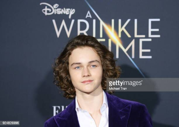 Levi Miller arrives at the Los Angeles premiere of Disney's 'A Wrinkle In Time' held at El Capitan Theatre on February 26 2018 in Los Angeles...
