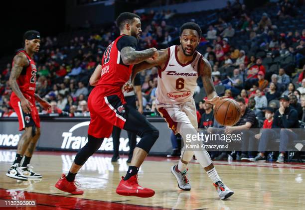 Levi Randolph of the Canton Charge drives to the basket against Mychal Mulder of the Windy City Bulls during the second half of an NBA GLeague game...