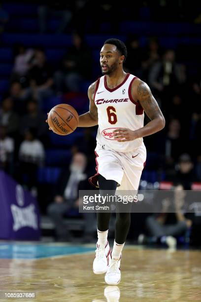 Levi Randolph of the Canton Charge handles the ball against the Greensboro Swarm on January 21 2019 at Greensboro Coliseum Fieldhouse in Greensboro...