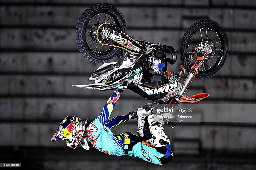 Levi Sherwood of New Zealand competes during qualifying for Red Bull X Fighter on June 23, 2016 in Madrid, Spain.