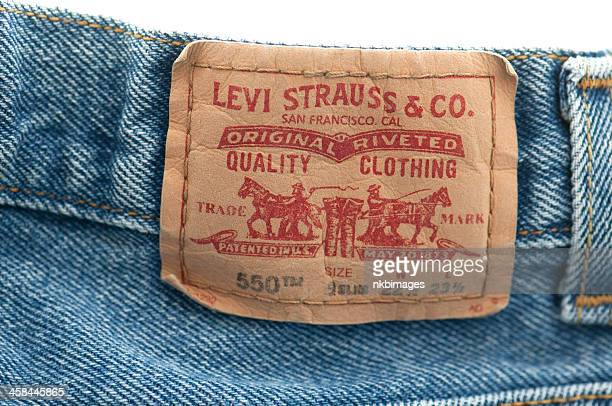 Levi Strauss and Company label on blue jeans