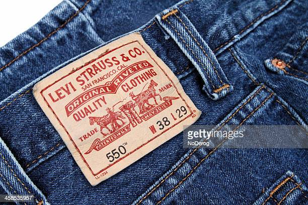Levi Strauss label on a pair of blue jeans