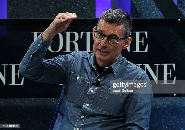 Levi Strauss president and CEO Chip Bergh speaks during the Fortune Global Forum on November 3 2015 in San Francisco California Business leaders are...