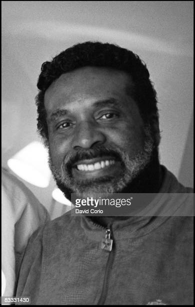 Levi Stubbs lead singer of the Four Tops poses for a photo at the Churchill Hotel on June 24 1988 in London England