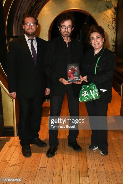 Levi Tinker, George Chakiris and Donelle Dadigan attend the Golden Globe and Academy Award winner George Chakiris signs and discusses his new book...