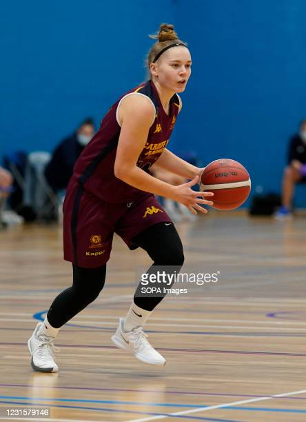 Levi Warren seen in action during the Women's British Basketball League match between WBBL Cardiff Archers and Caledonia Pride at Cardiff Archers...