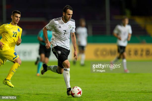 Levin Oeztunali of Germany controls the ball during the U21 UEFA 2018 EM Qualifying match between Germany and Kosovo at the Stadion Bremer Bruecken...