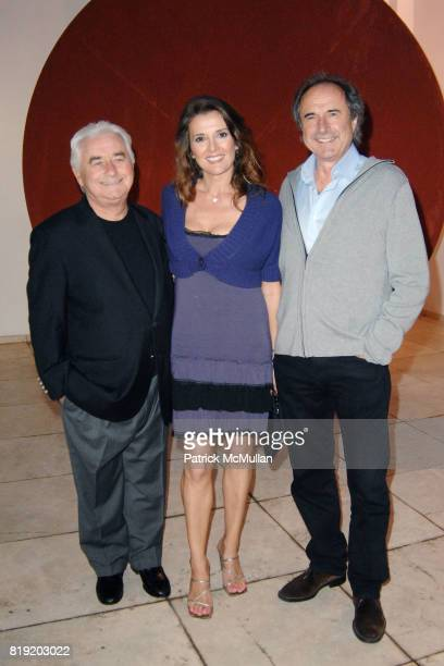 Levio Betti Fabiana Udenio and Goirgio Dazzan attend GAETANO PESCE PIECES FROM A LARGER PUZZLE at Italian Cultural Institute of Los Angeles on July 7...