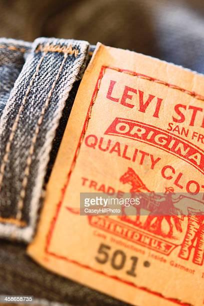 Levi's 501 Knopfleiste Label
