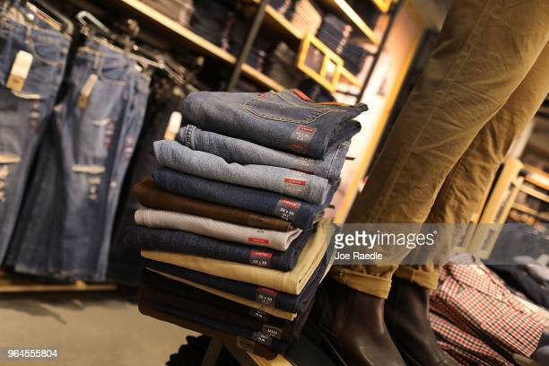 Levi's clothes are seen on a store shelf on the day President Donald Trump placed tariffs on steel and aluminum imports and European Union responded...