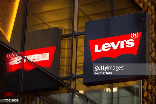 Levi's logo seen in Gothenburg.