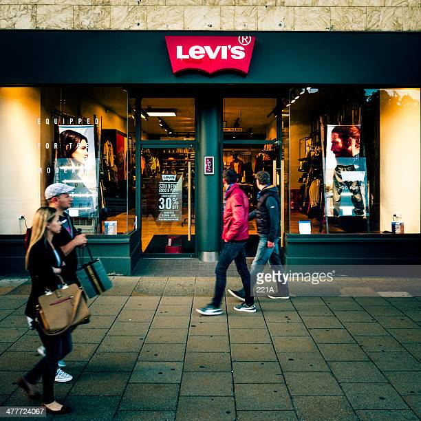 Levi's shop front on Princes Street, Edinburgh