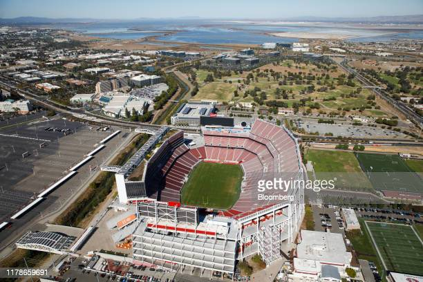 Levi's Stadium stands in this aerial photograph taken above Santa Clara California US on Wednesday Oct 23 2019 TheSan Francisco 49erswill begin...