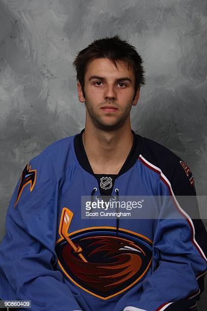 Levko Koper of the Atlanta Thrashers poses for his official headshot for the 20092010 NHL season