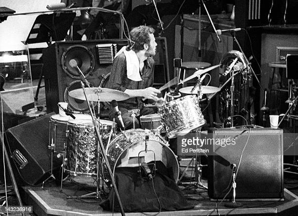 Levon Helm of The Band performs during The Last Waltz at Winterland in November 1976 in San Francisco California