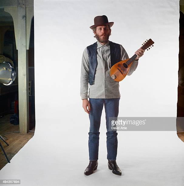 Levon Helm of the roots rock group The Band poses for a portrait in 1969 in Saugerties New York