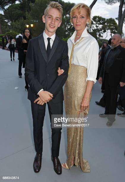 Levon Roan ThurmanHawke and Uma Thurman attends the amfAR Gala Cannes 2017 at Hotel du CapEdenRoc on May 25 2017 in Cap d'Antibes France