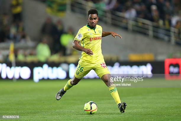 Levy Djidji of Nantes during the Football french Ligue 1 match between FC Nantes and SM Caen at Stade de la Beaujoire on May 7 2016 in Nantes France